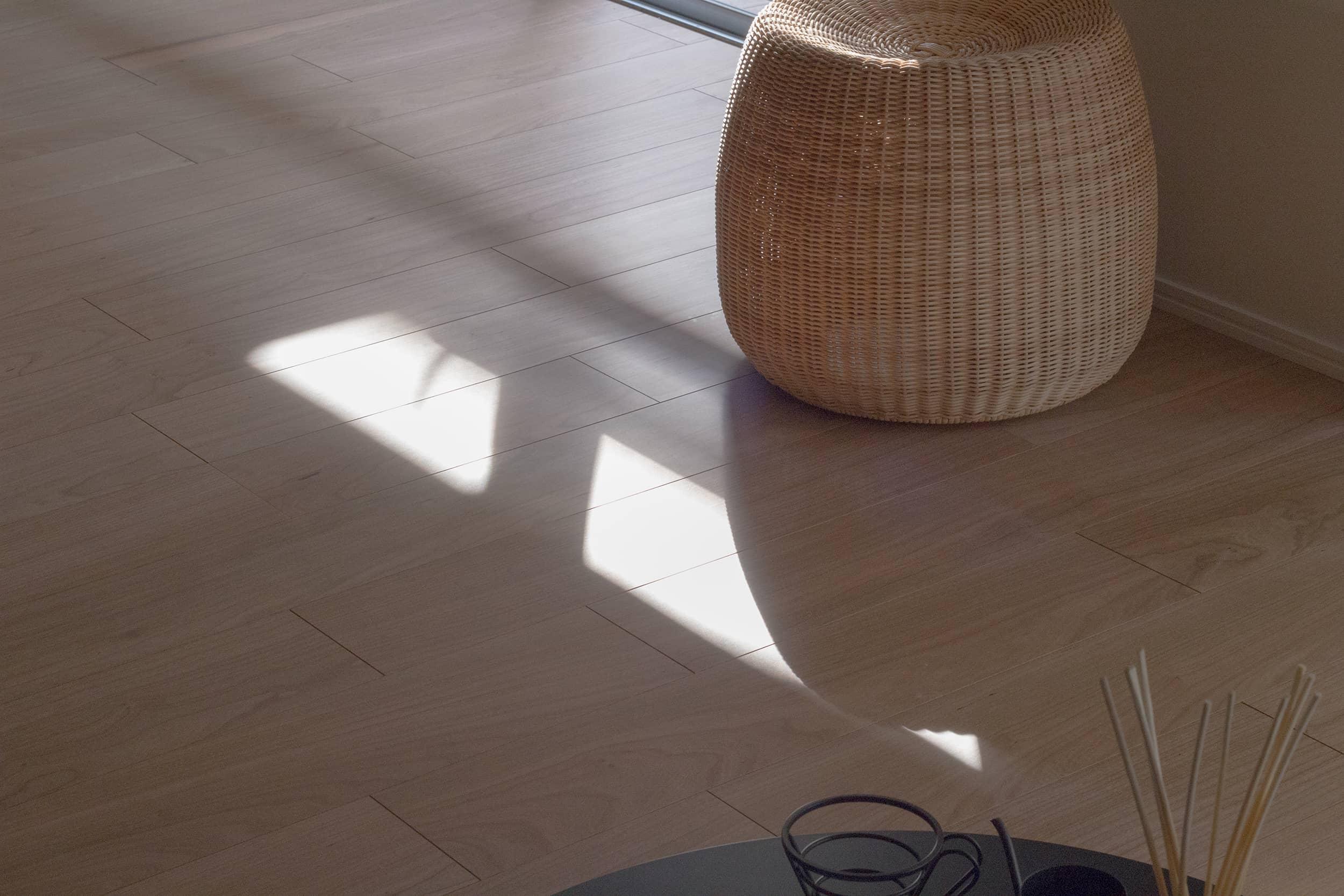 蒲田グリーンパークモデルルーム / 床に伸びる日の光